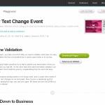 入力テキストの文字数をカウントしてくれる「Textchange」
