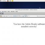 Adobe Reader インストール